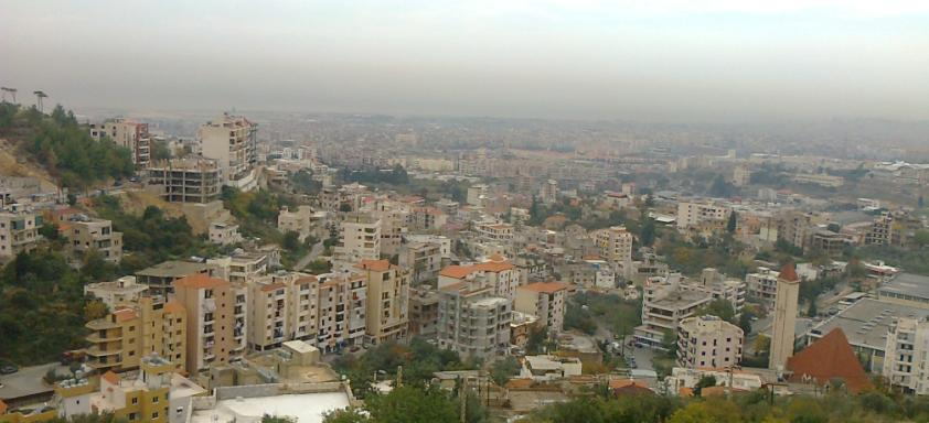 Kfarchima town overview picture from one side