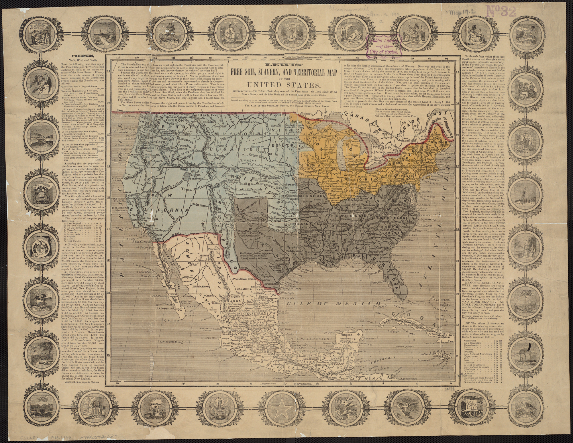 FileLewis Free Soil Slavery And Territorial Map Of The United - Free paper us map
