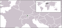 Location of Liechtenstein