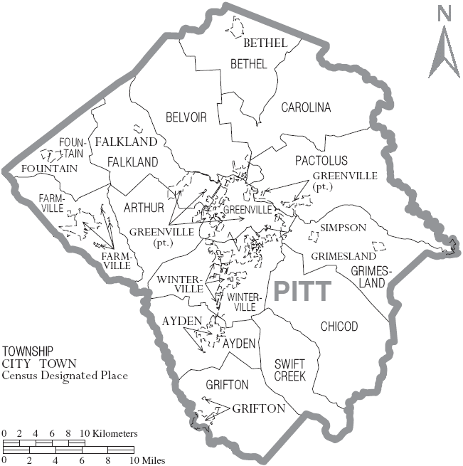 File:Map of Pitt County North Carolina With Municipal and Township