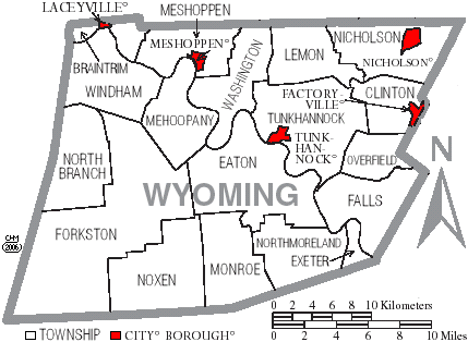 File:Map of Wyoming County Pennsylvania With Municipal and