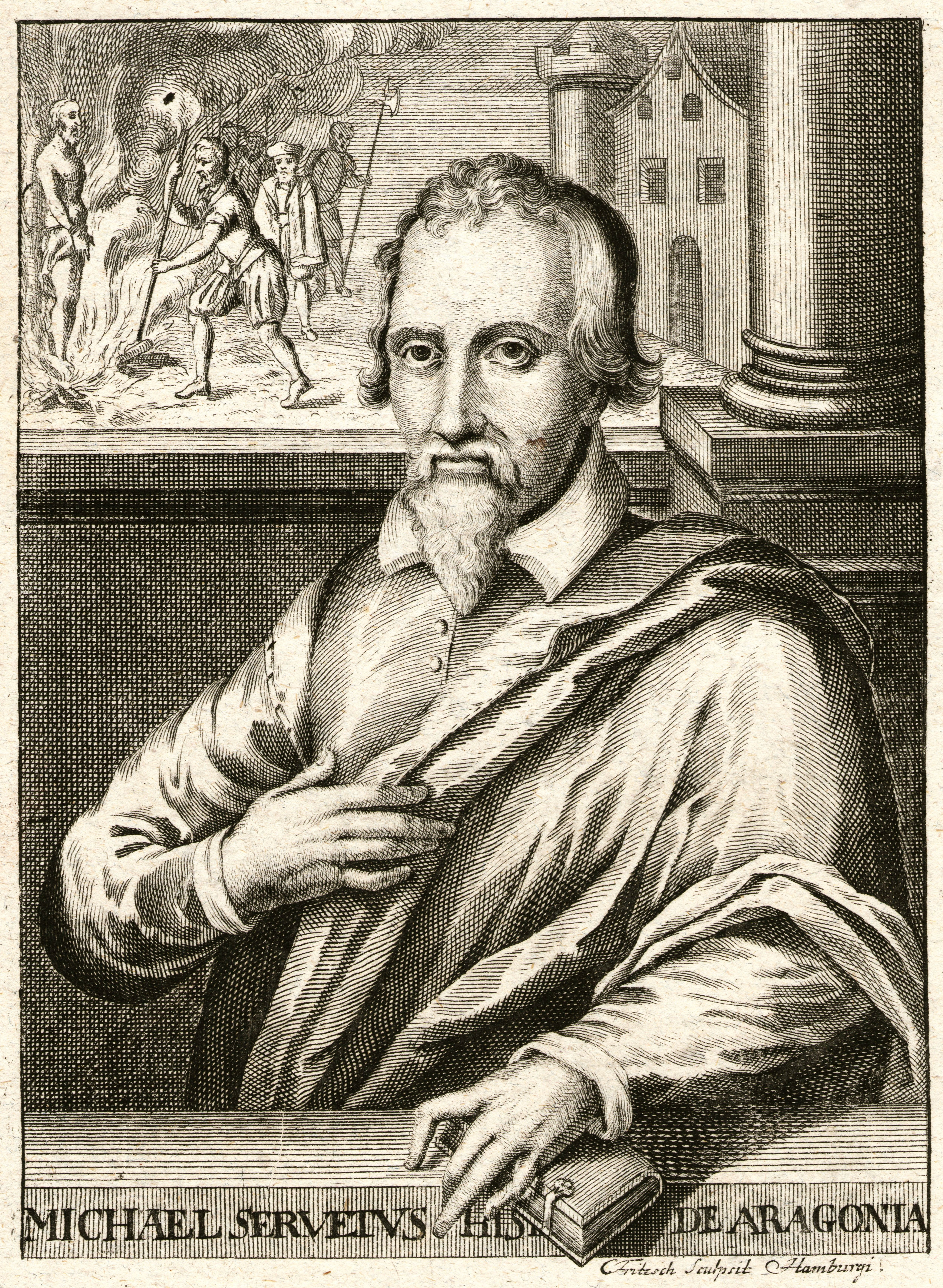 Depiction of Miguel Servet