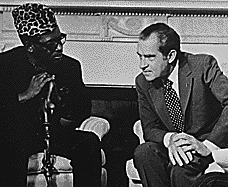 Mobutu with Richard Nixon at the White House in 1973