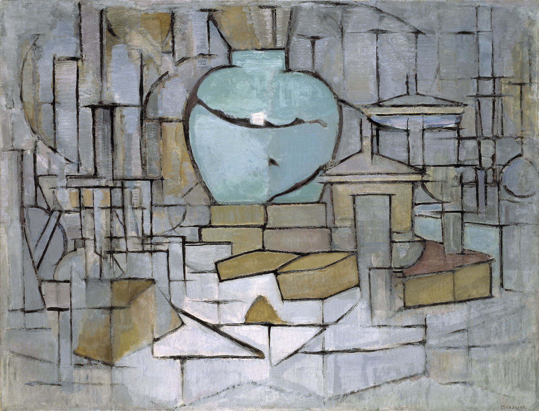 Piet Mondrian Werke file mondrian still with gingerpot ii jpg wikimedia commons