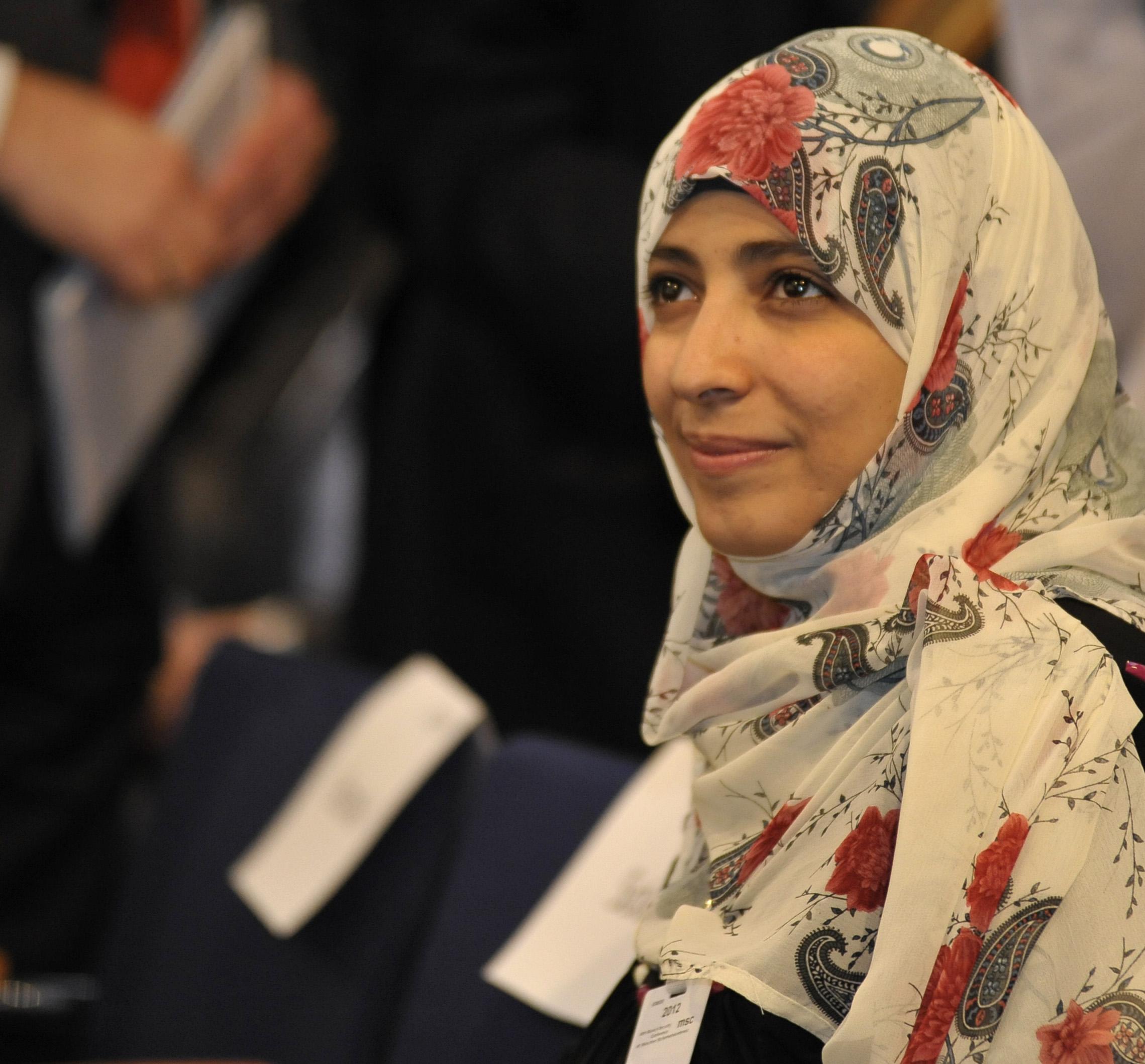 La activista yemení Tawakkul Karman, Nobel de la Paz 2011