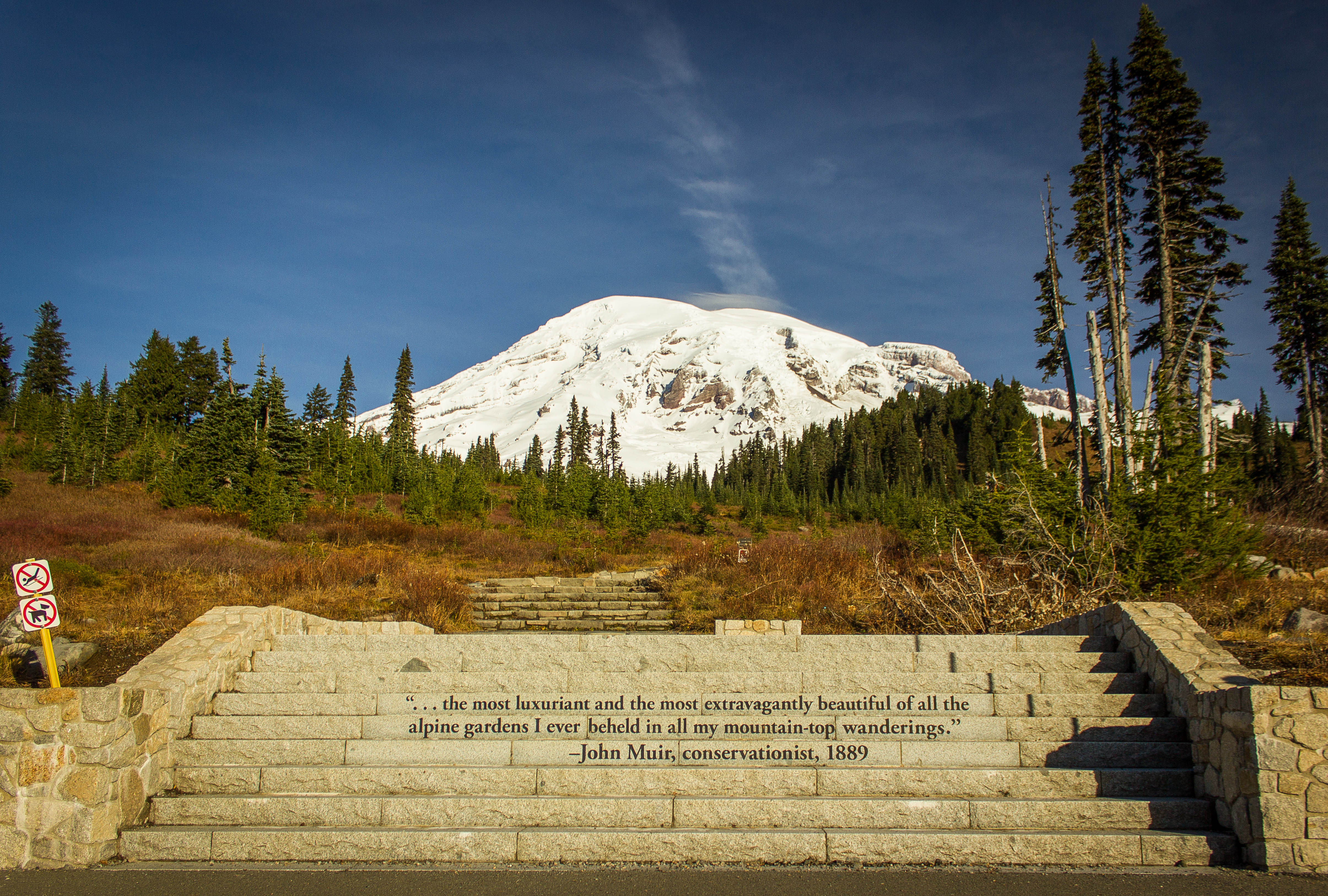 Filemt Rainier And Stairs With John Muir Quoteg Wikimedia Commons