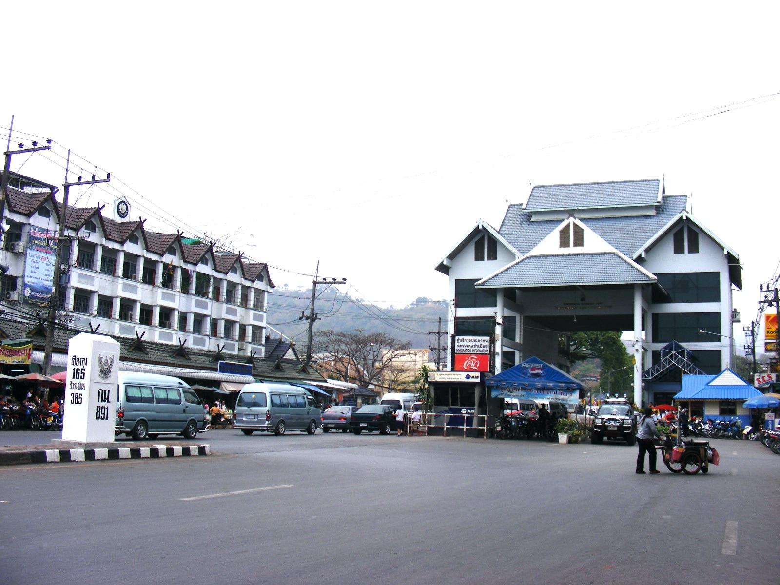 Mae Sai (Chiang Rai) Thailand  city photos gallery : Myanmar Thailand bridge in Mae Amphoe Mae Sai, Thailand