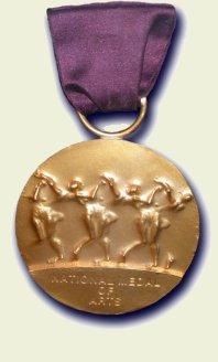 The National Medal of Arts awarded by the Nati...
