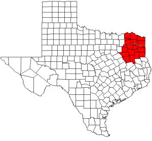 Northeast Texas Region in Texas, United States