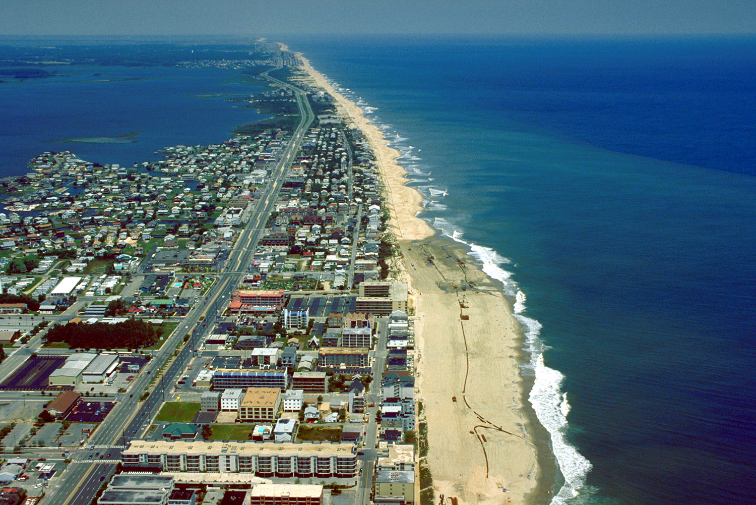 Description ocean city maryland aerial view north