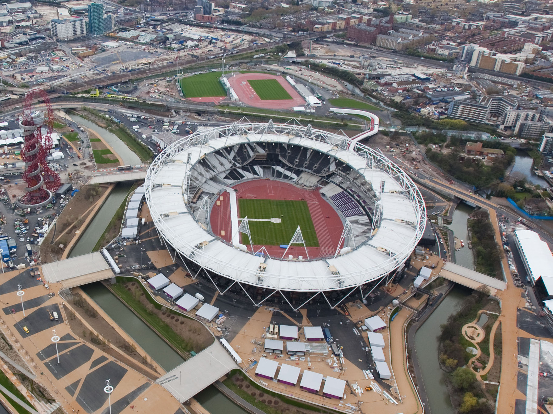 Olympic Stadium Aerial View Aerial View of The Stadium in