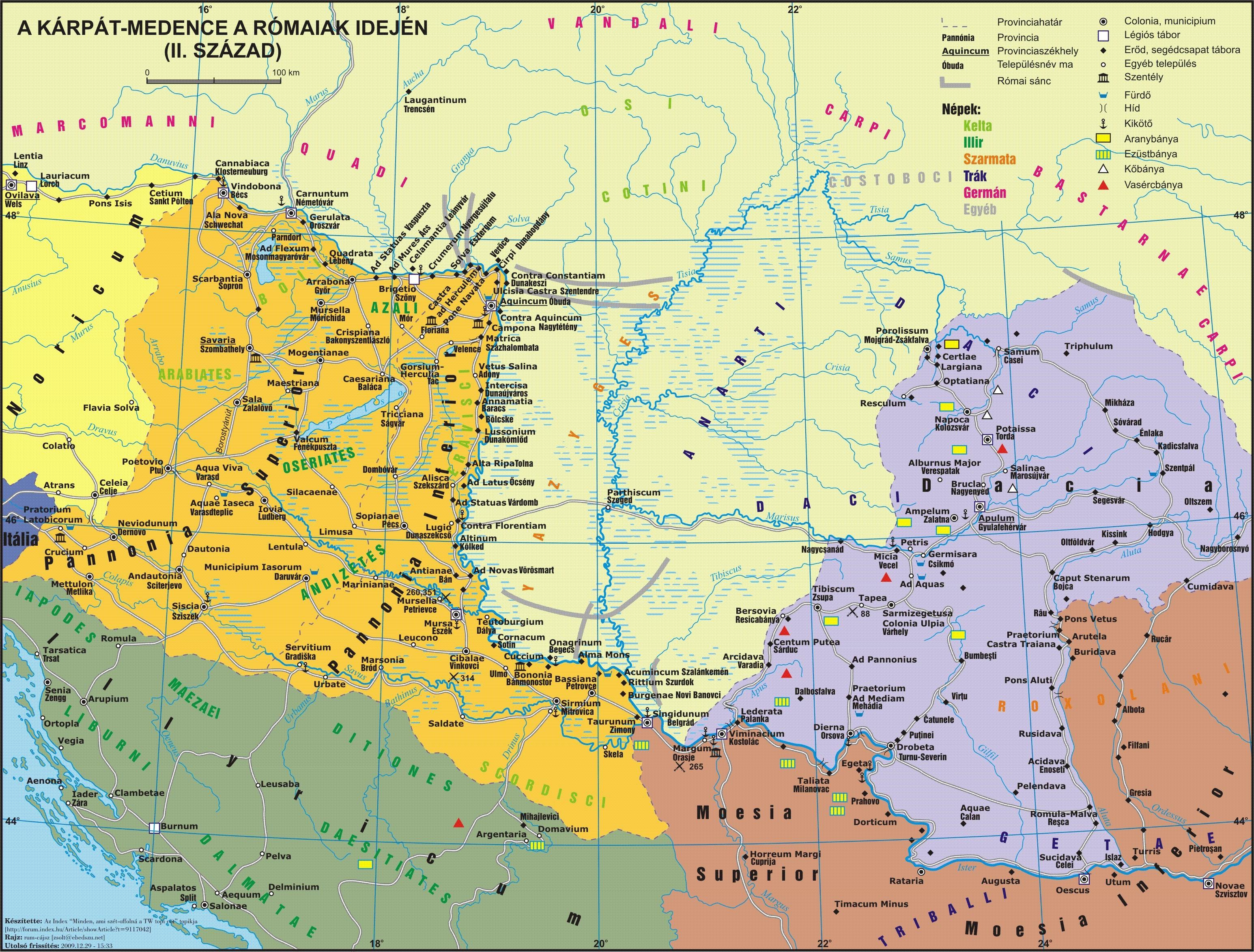 terkep File:Pannonia térkép 2. század.   Wikimedia Commons