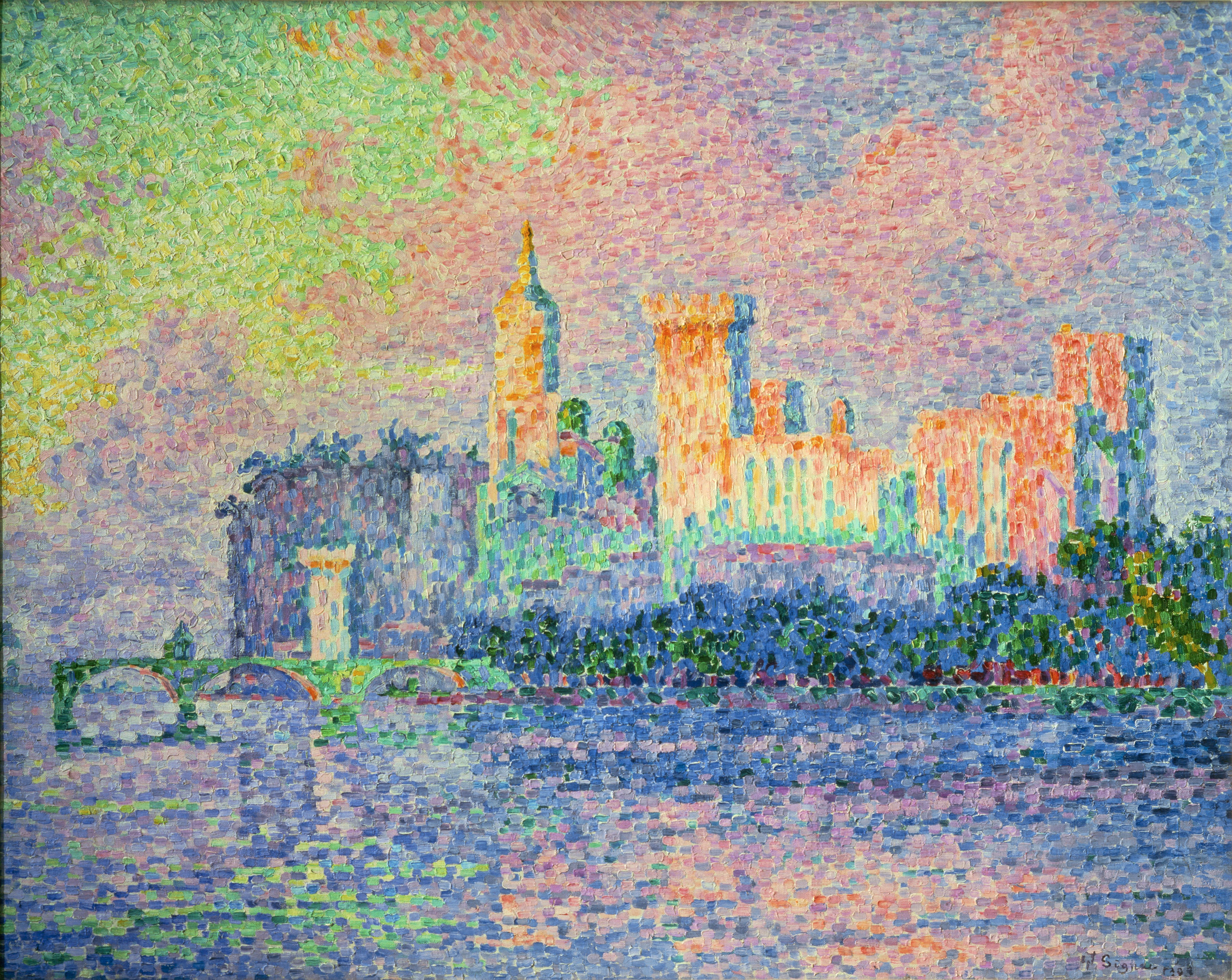file paul signac palais des papes wikimedia commons. Black Bedroom Furniture Sets. Home Design Ideas