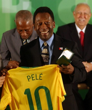 Pele is the all-time top scorer for Brazil with 77 goals Pele 10.PNG