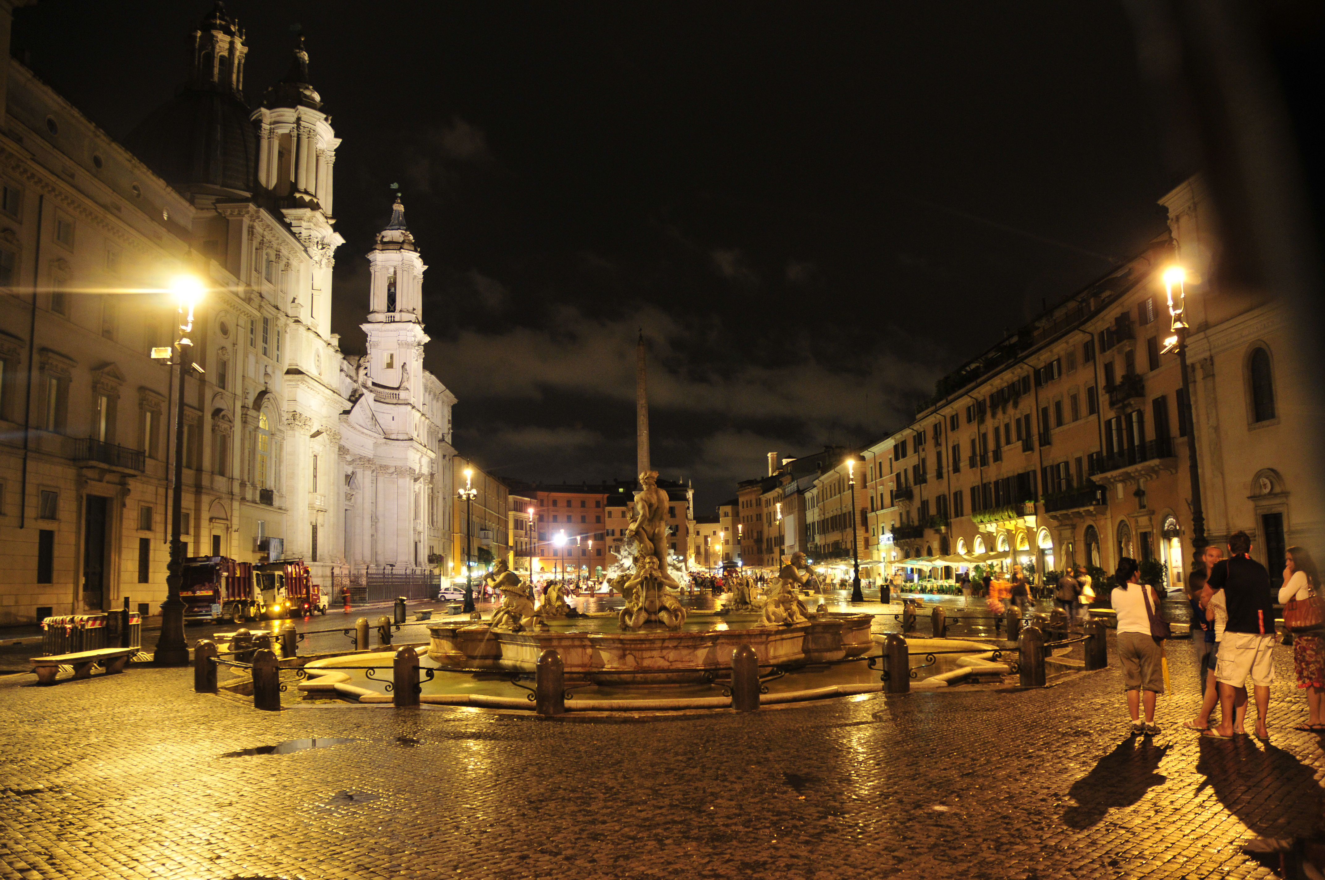 View of the Square at Night