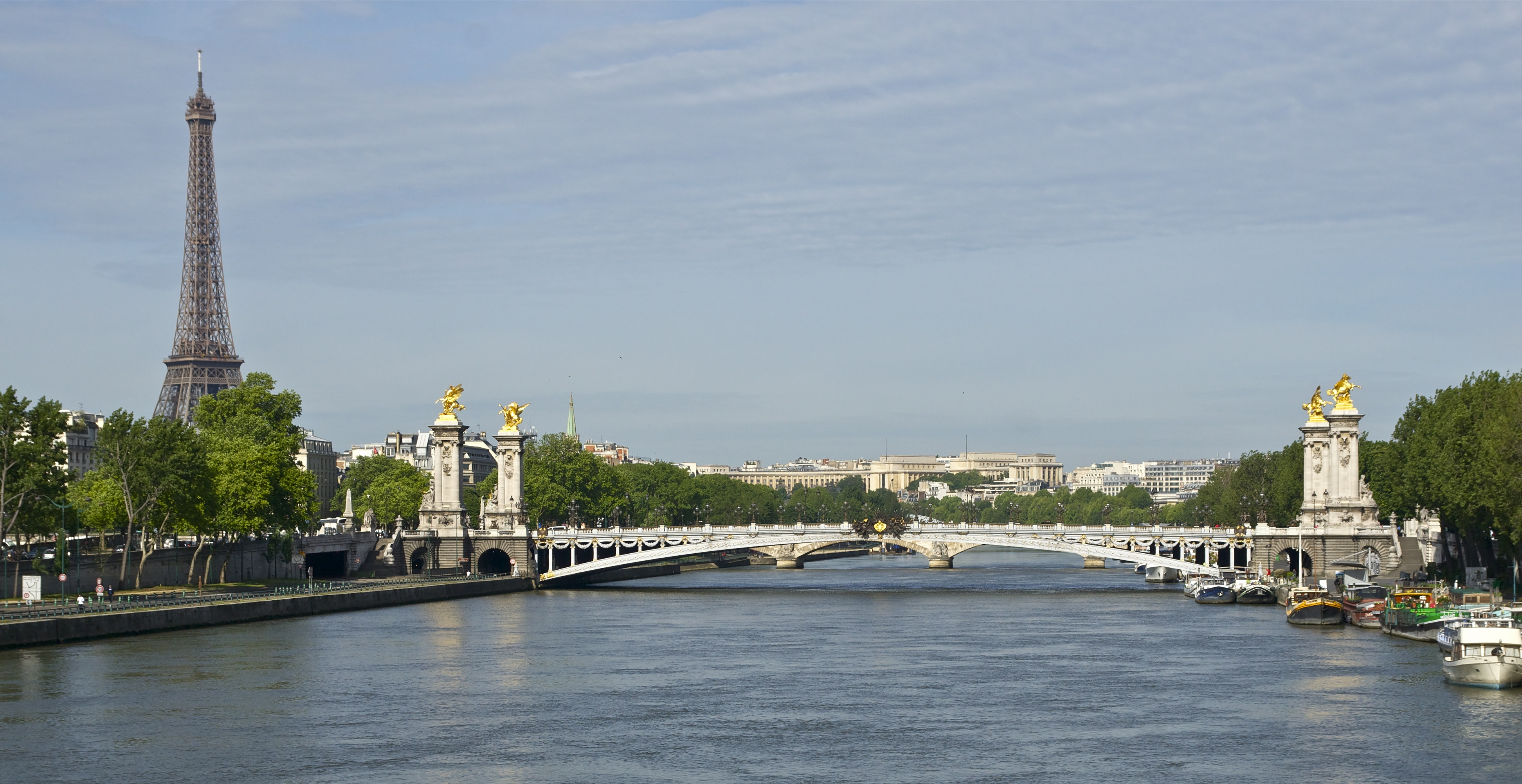 File:Pont Alexandre III Tour Eiffel depuis pont Concorde ...