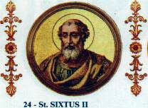 Pope St Sixtus II the Martyr of Rome 257-258.jpg