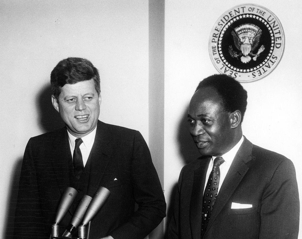 John F. Kennedy Meets President of Ghana, Osagyefo Dr. Kwame Nkrumah