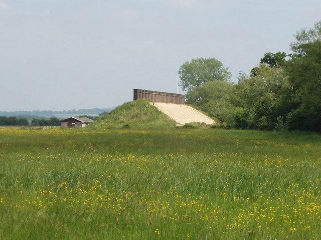 Rifle range butts on Otmoor - geograph.org.uk - 182138