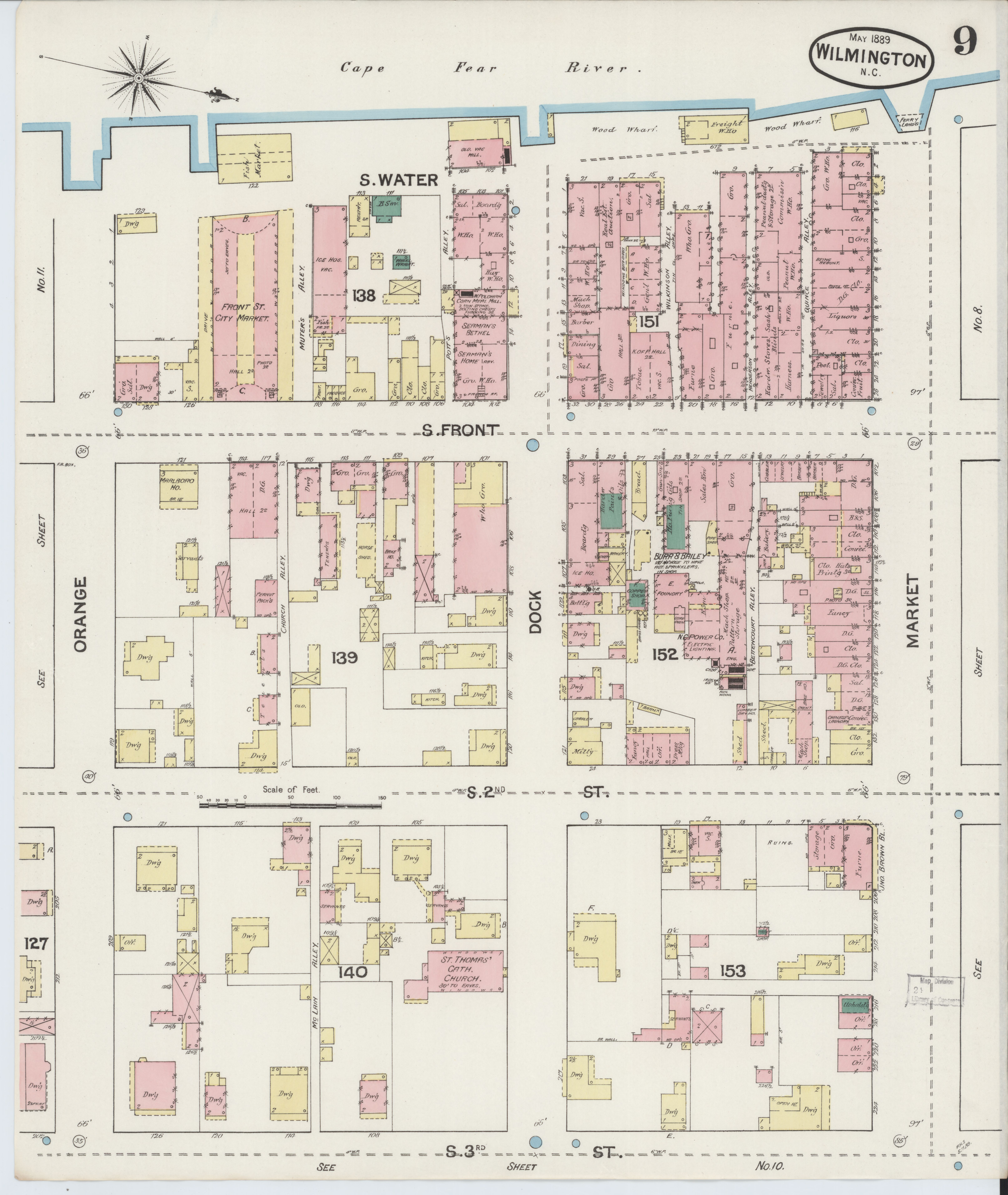 File Sanborn Fire Insurance Map From Wilmington New Hanover County