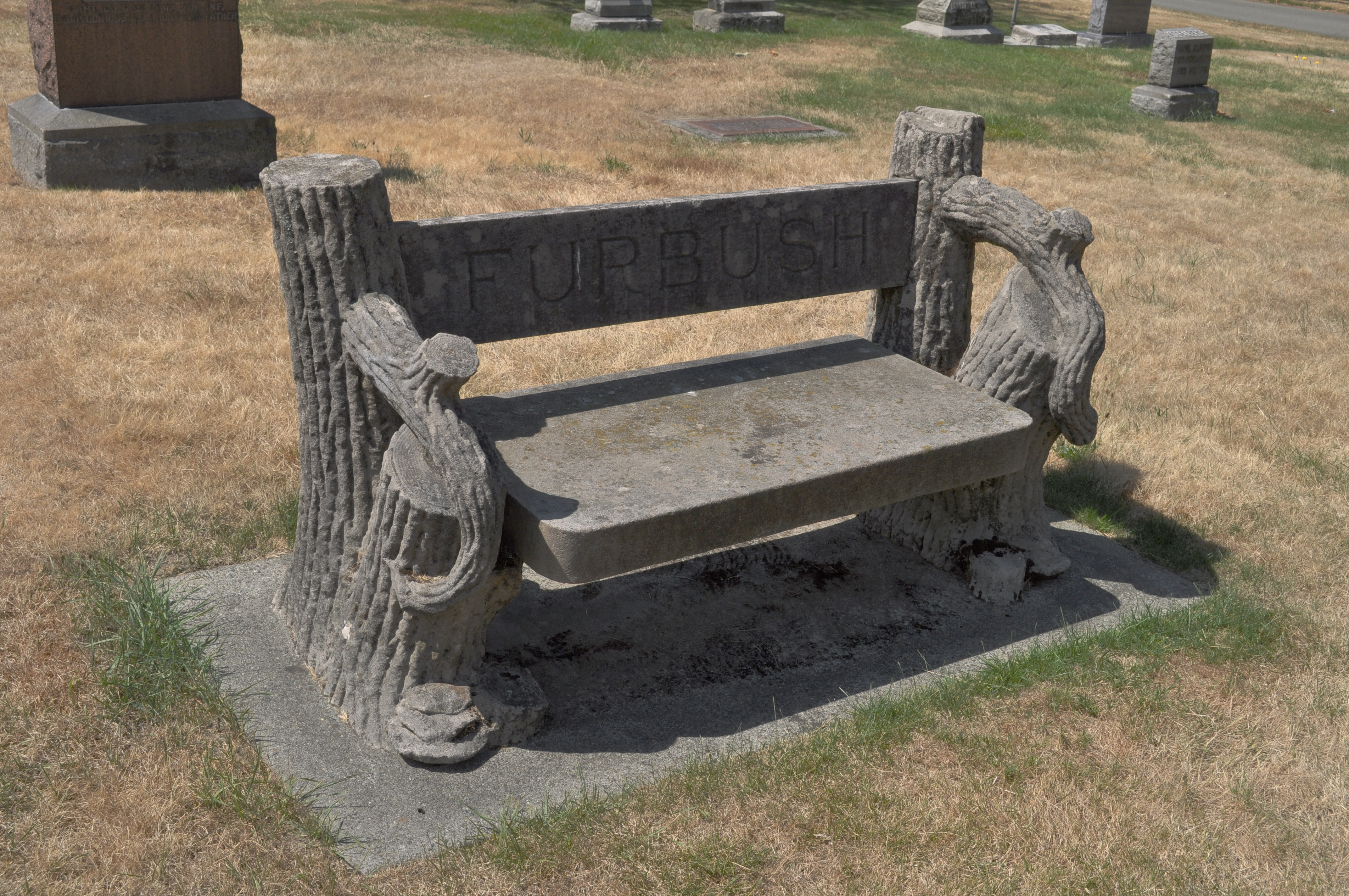 File Seattle Lake View Cemetery Bench As Grave Marker