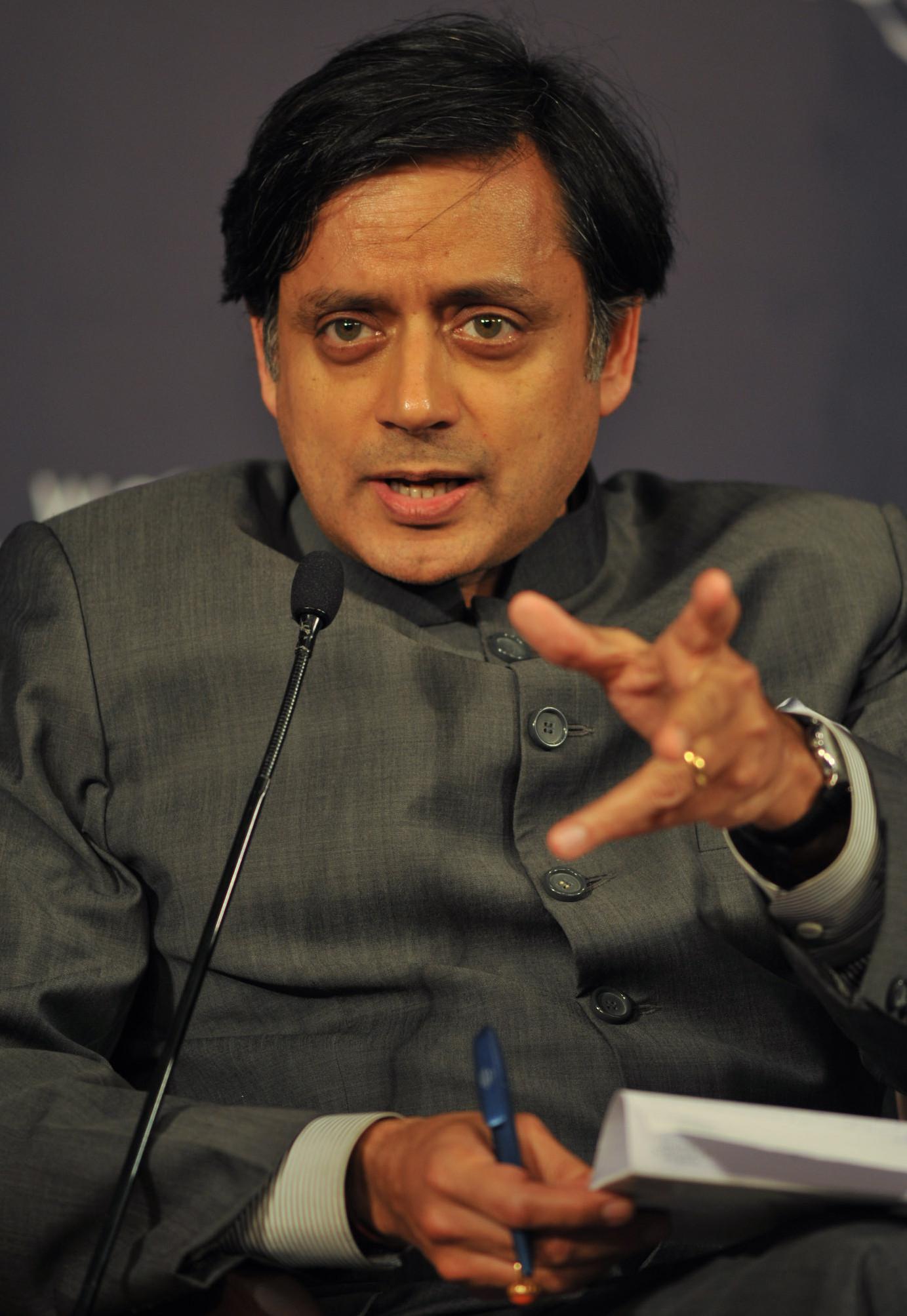 Tharoor during Global Redesign Session in New Delhi