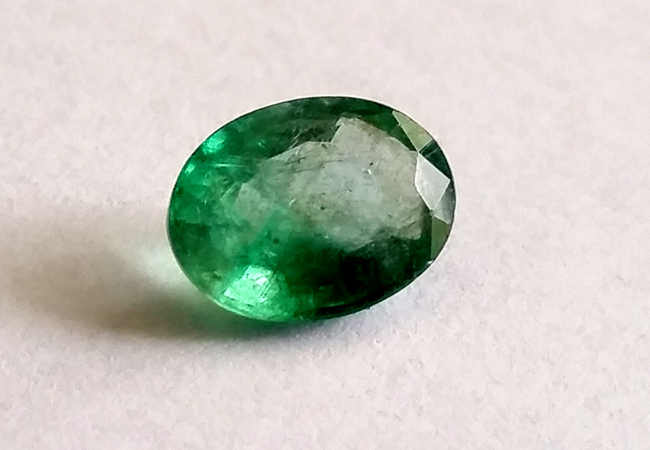 Faceted emerald, 1.07ct, Colombia