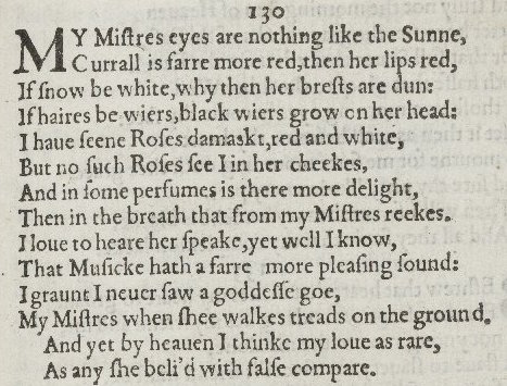 a plot overview of shakespeares sonnet 130 A short summary and analysis of sonnet 130 this shakespeare love sonnet is one of the most famous shakespeare love poems, and is also known as o mistress mine.
