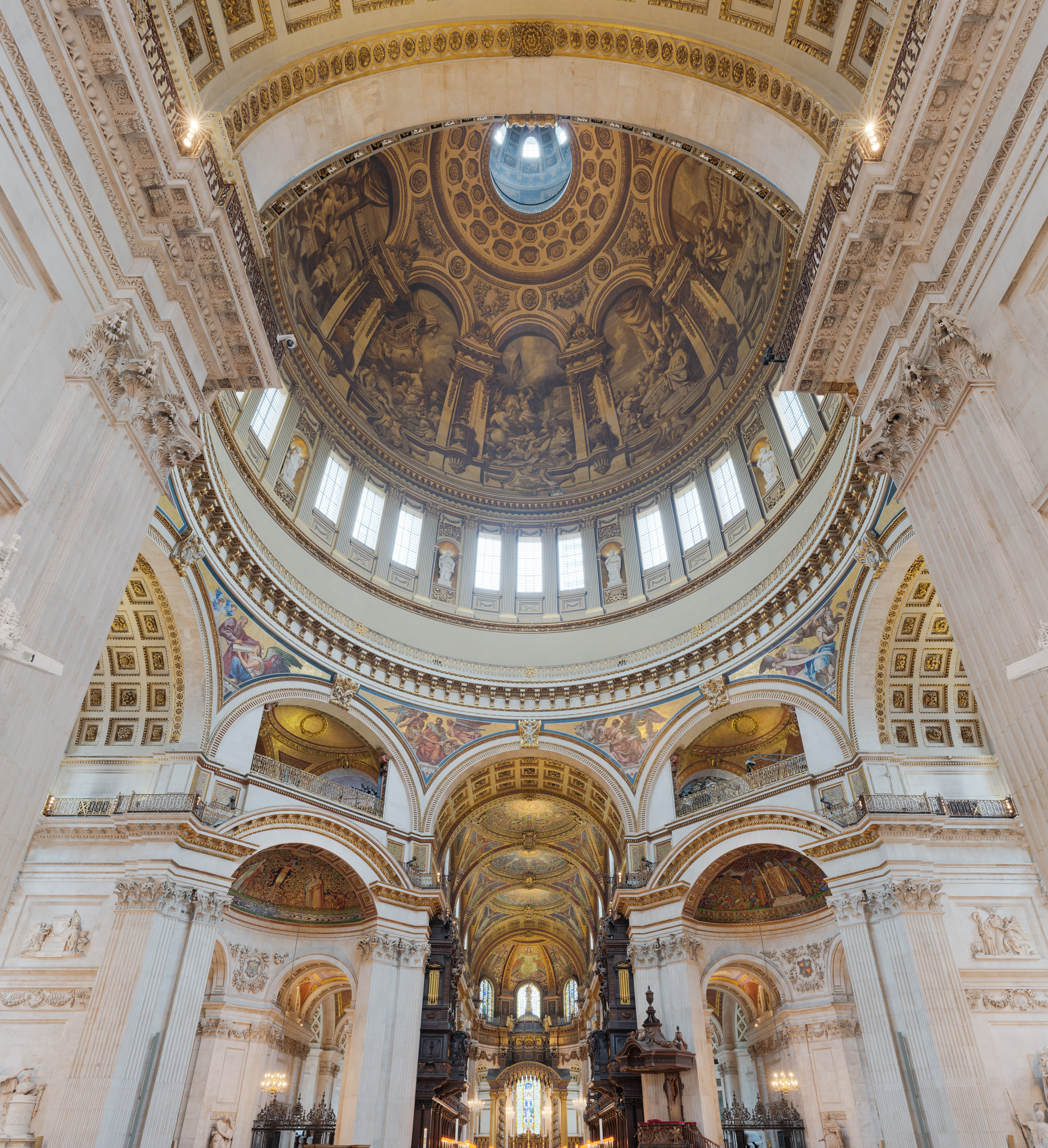 File St Paul S Cathedral Interior Dome 1 London Uk