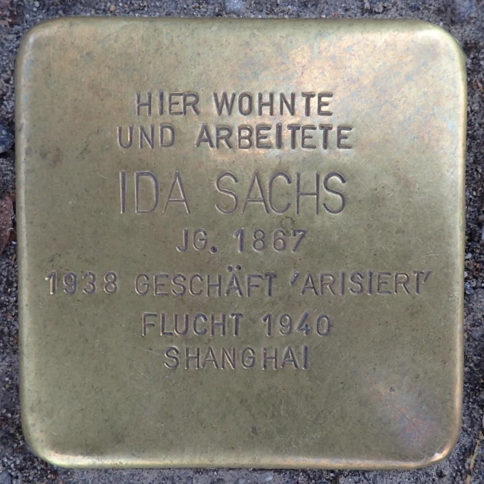 Stolperstein Bad Belzig Sandberger Straße 10 Ida Sachs.jpg