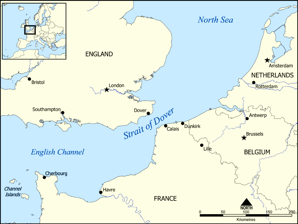 Map Of England Europe.Strait Of Dover Wikipedia