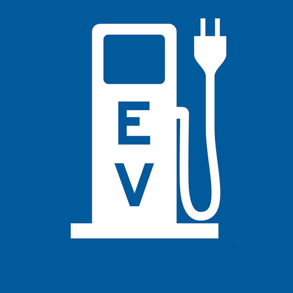 Symbol electric vehicle charging stations