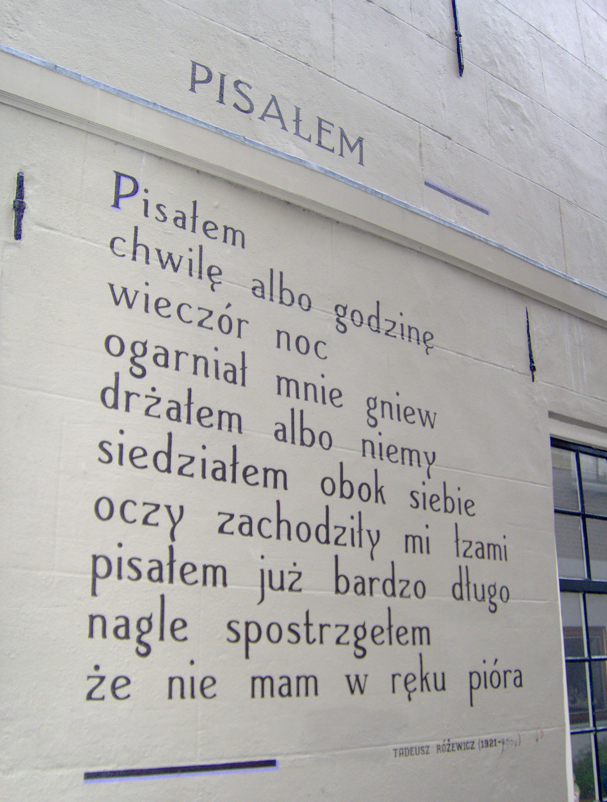 Pliktadeusz Różewicz Pisalem Oude Vest 79 Leidenjpg