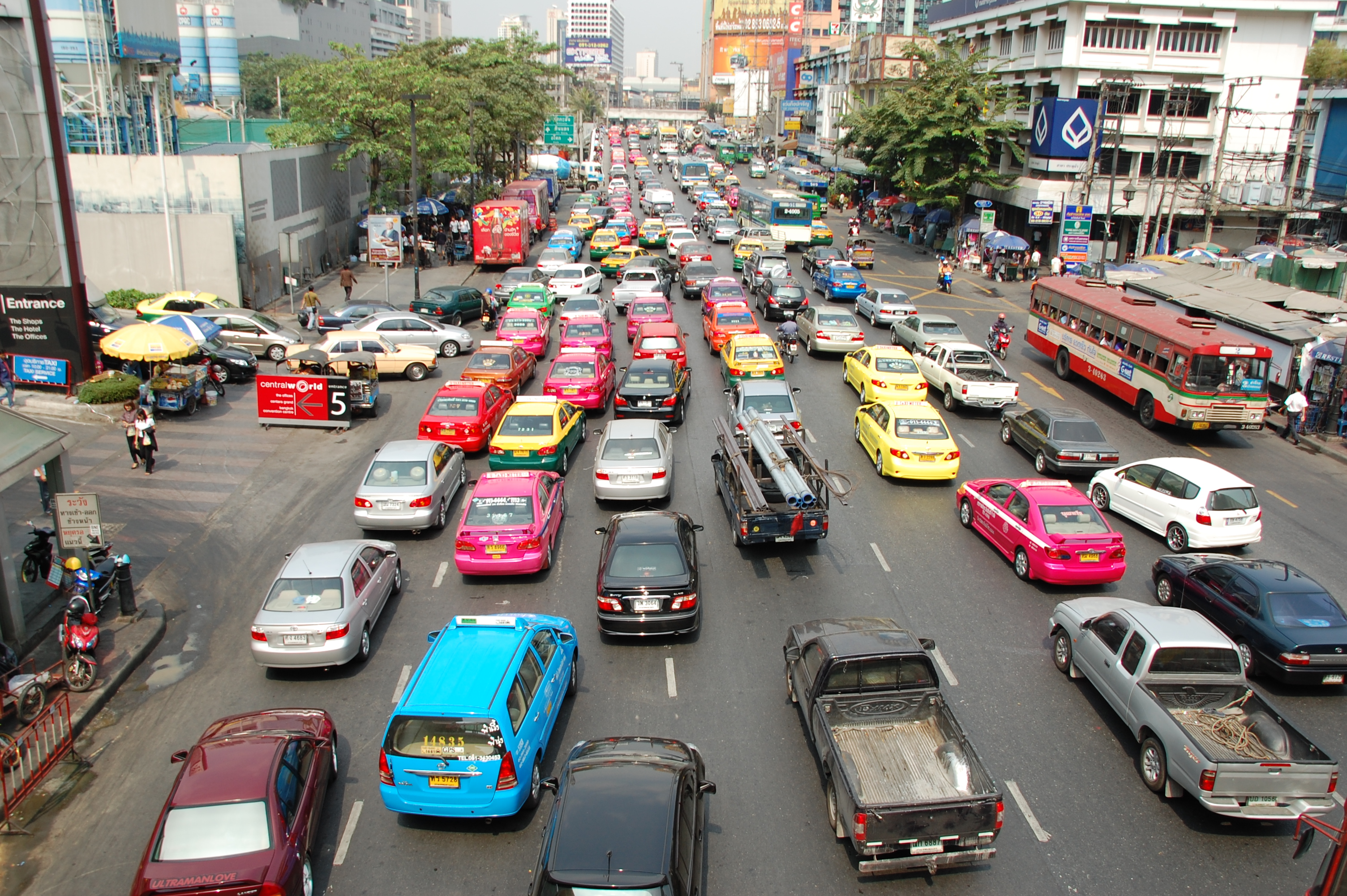 Image result for traffic bangkok