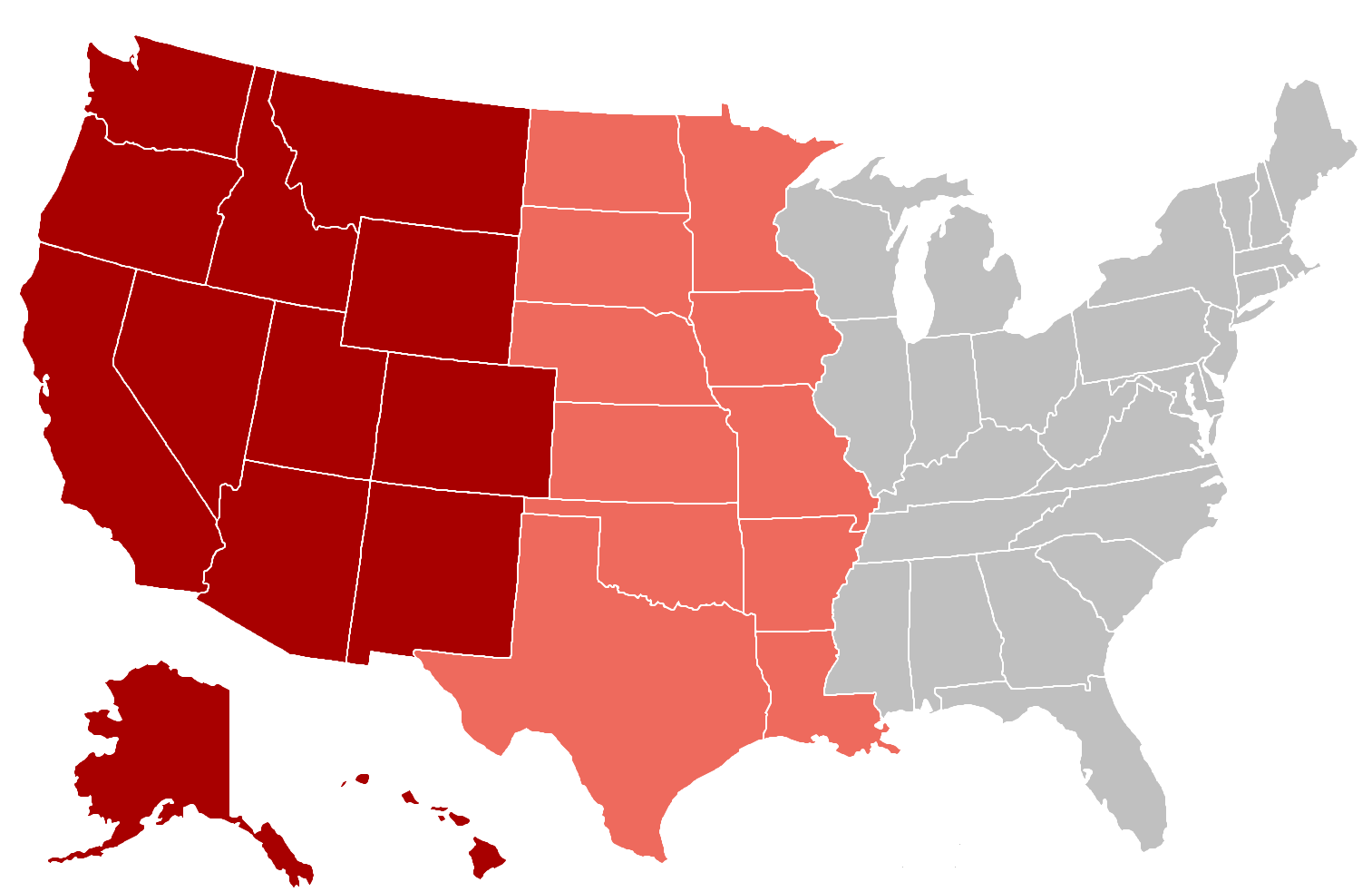 Western United States Familypedia FANDOM Powered By Wikia - Map of west us states