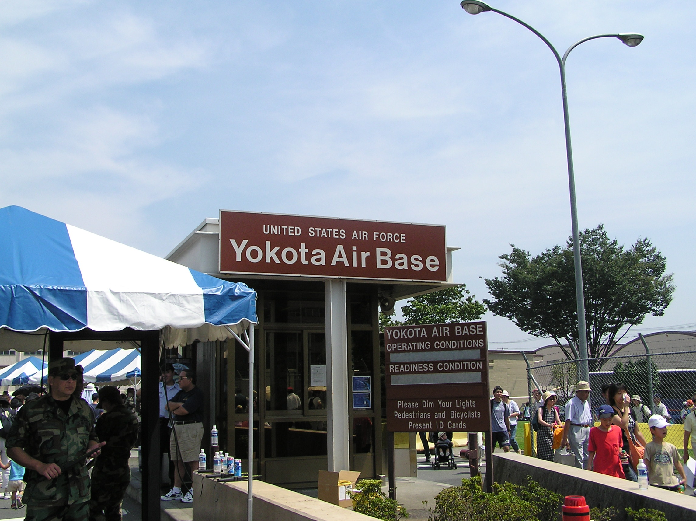 Yokota air base is situated approximately 38 kilometers (23 miles) from the central metropolitan district of tokyo