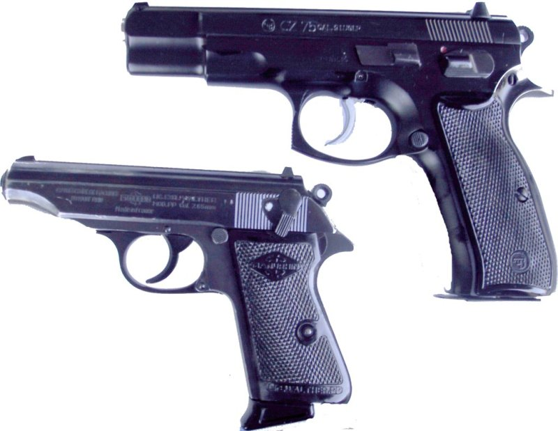 file walther ppk 765 und cz75 9mm para jpg wikimedia commons