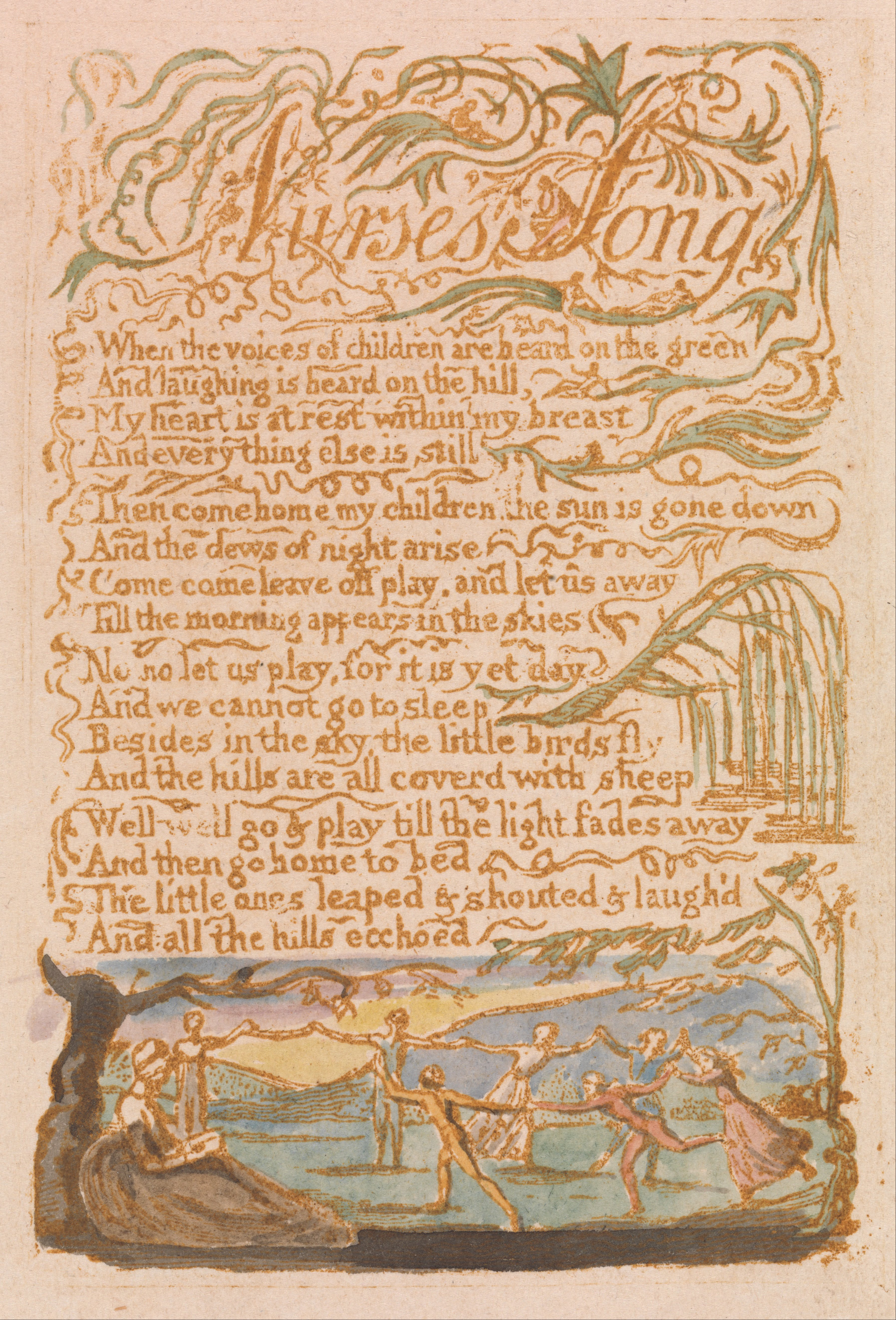 william blakes nurses song Songs of innocence and of experience [william blake] on amazoncom free shipping on qualifying offers this compact hardcover edition of william blake's classic songs of innocence and of experience is the perfect size for students and collectors of classic poetry.