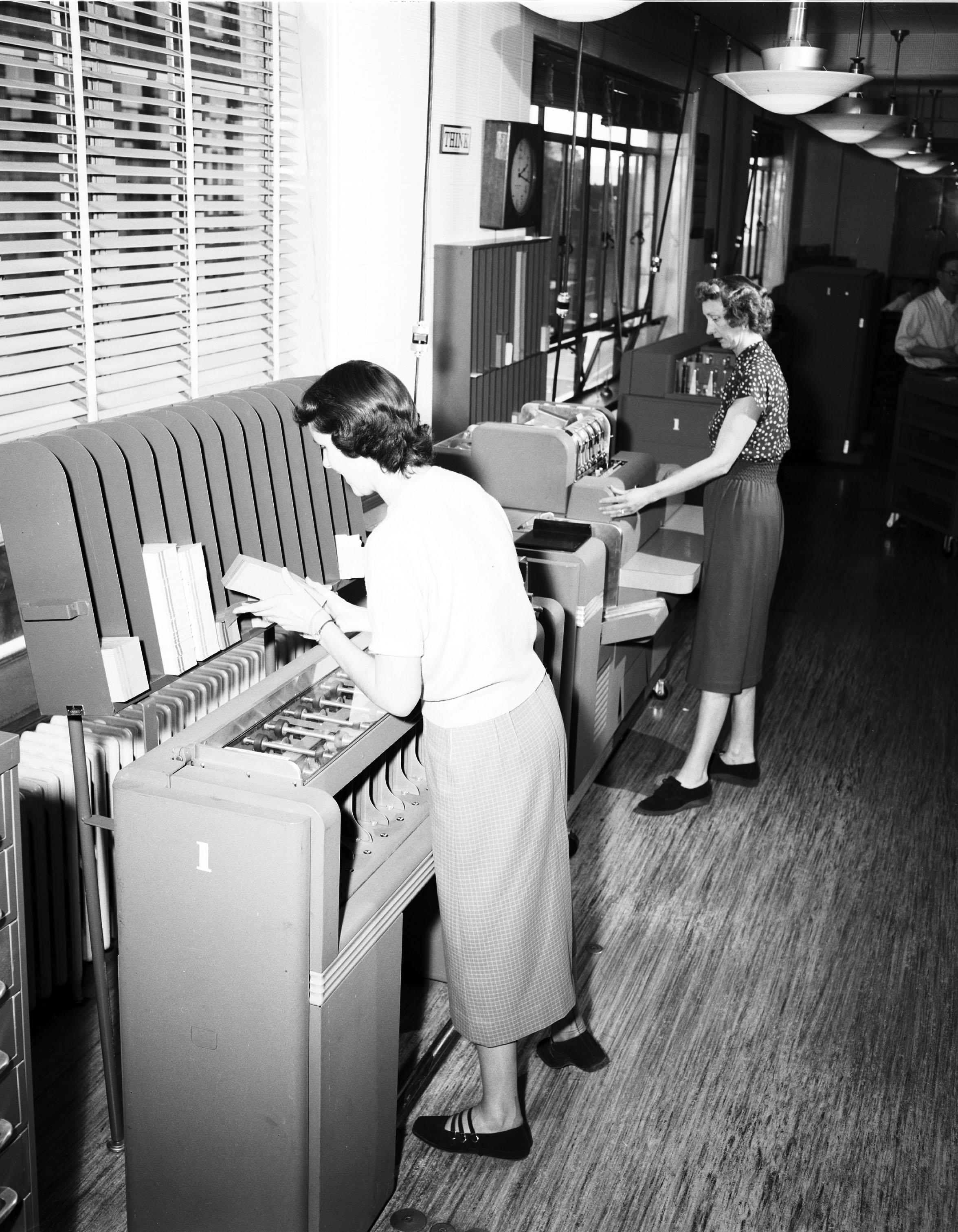 File:Women Working In Seattle City Light Office, 1954 (26662554220)