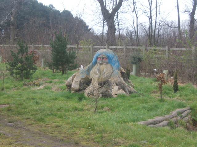File:Wooden carving by the side of the A6 at Alvaston - geograph.org.uk - 362545.jpg