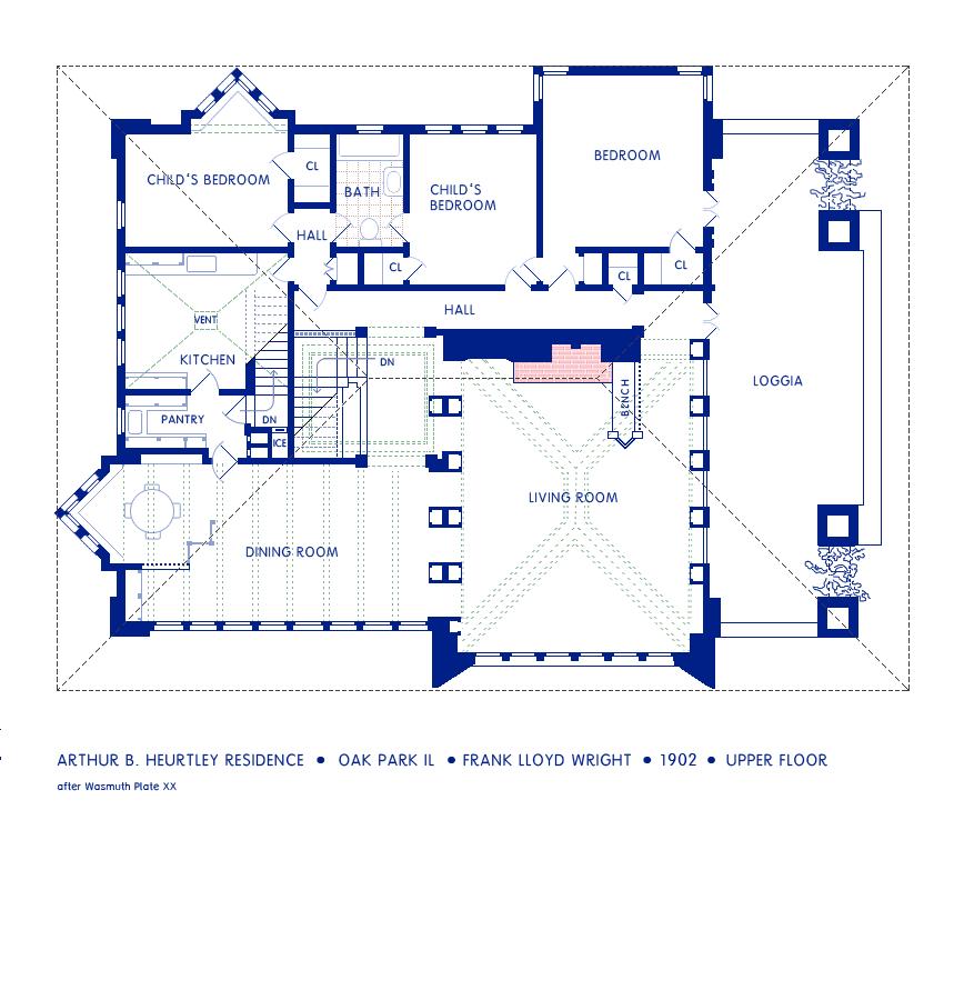 frank lloyd wright plan, zimmerman house plan, pope-leighey house plan, on goetsch winckler house floor plan
