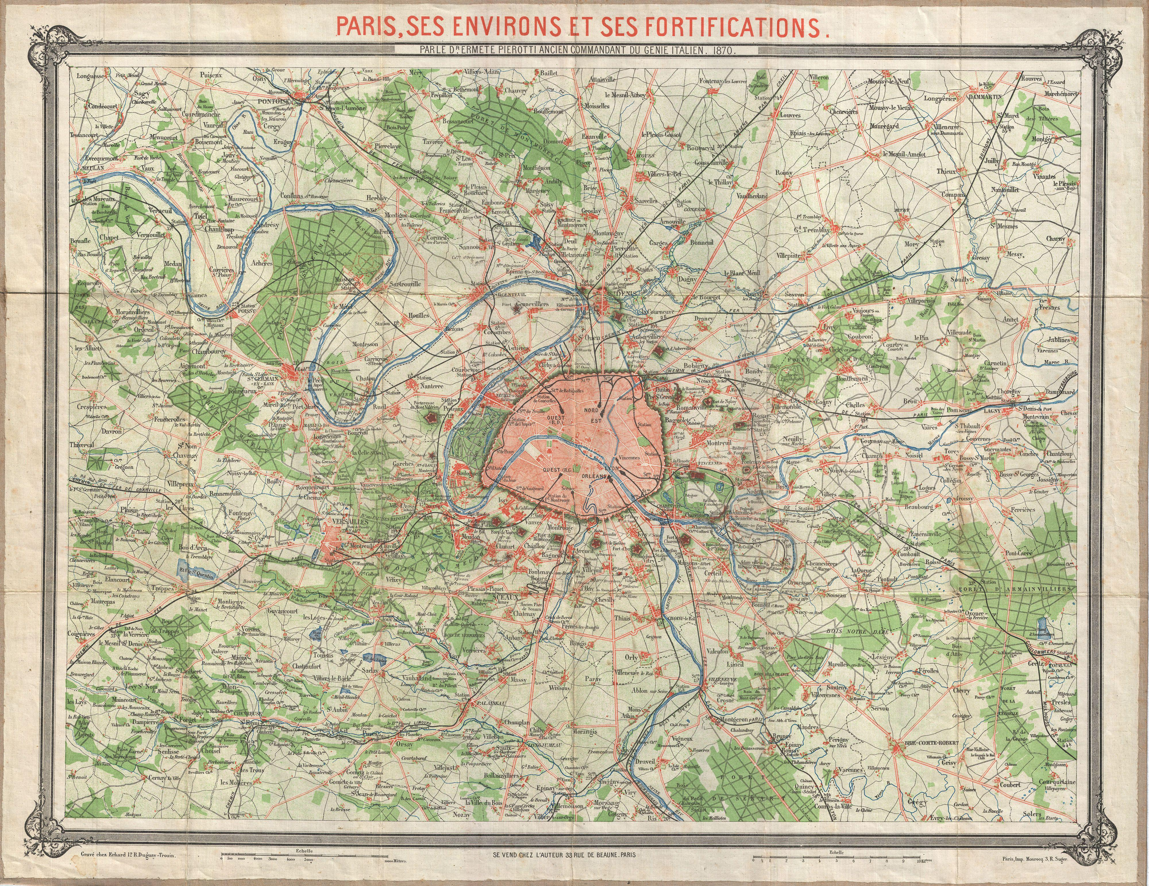 Datei:1870 Erhard Map of Paris and Vicinity, France - Geographicus ...
