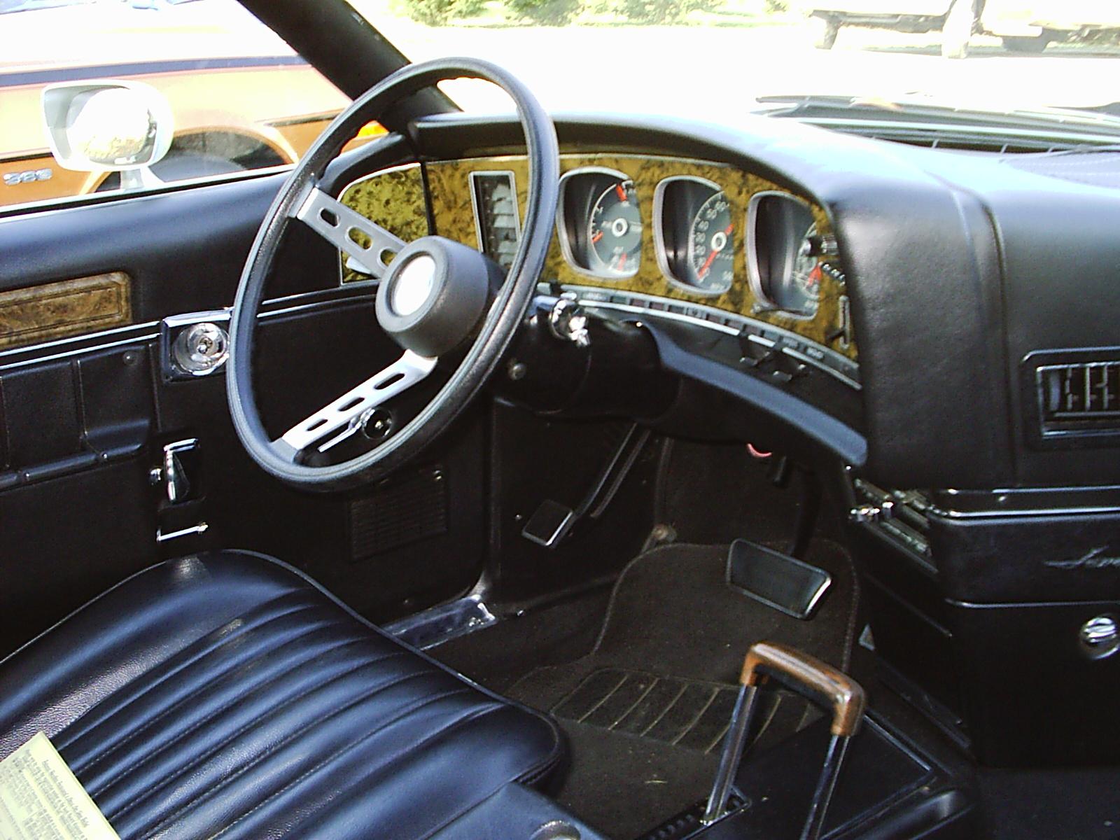 1968 Amc Javelin Interior Shows The Javelin's Drivercentered Interior