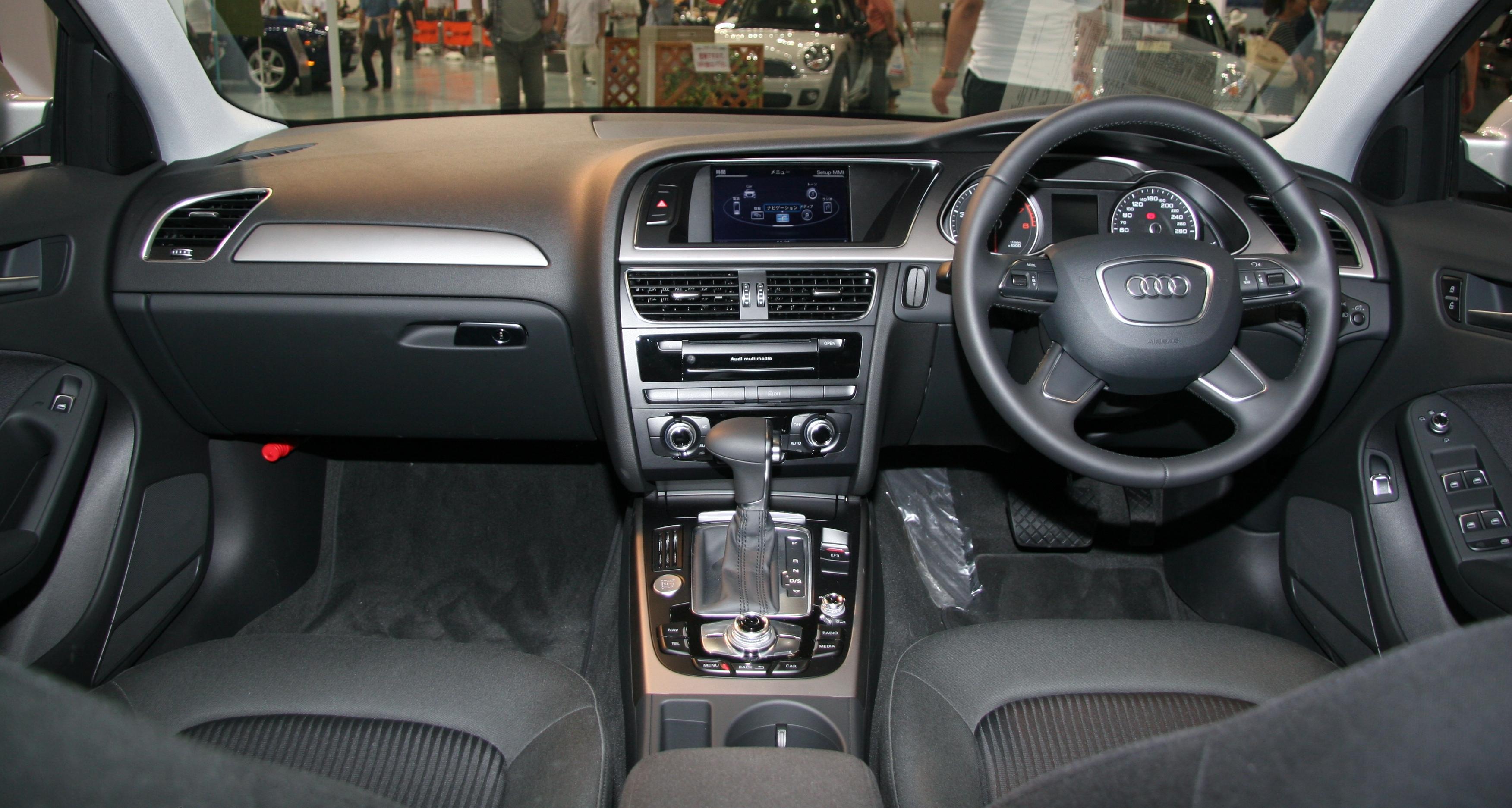 File 2012 Audi A4 B8 Interior Jpg Wikimedia Commons