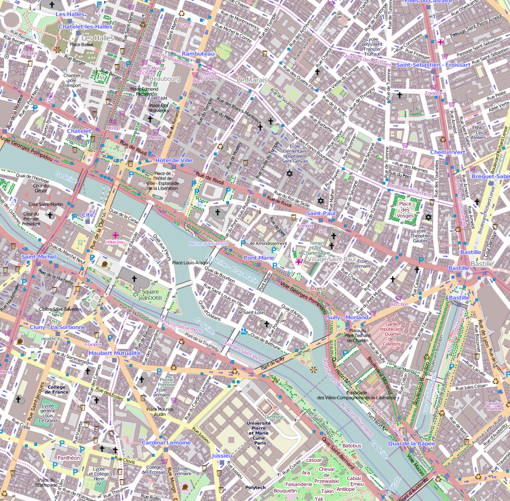 paris street map printable with File 4e Arrondissement  Paris  France   Open Street Map on Autobus Turistico Las Vegas Ruta Panoramica also Berlin Tourist Map moreover GIS further Copenhagen City Sightseeing likewise Stock Image Santorini Map Illustration Island Cute Icons Place Names Image36838131.