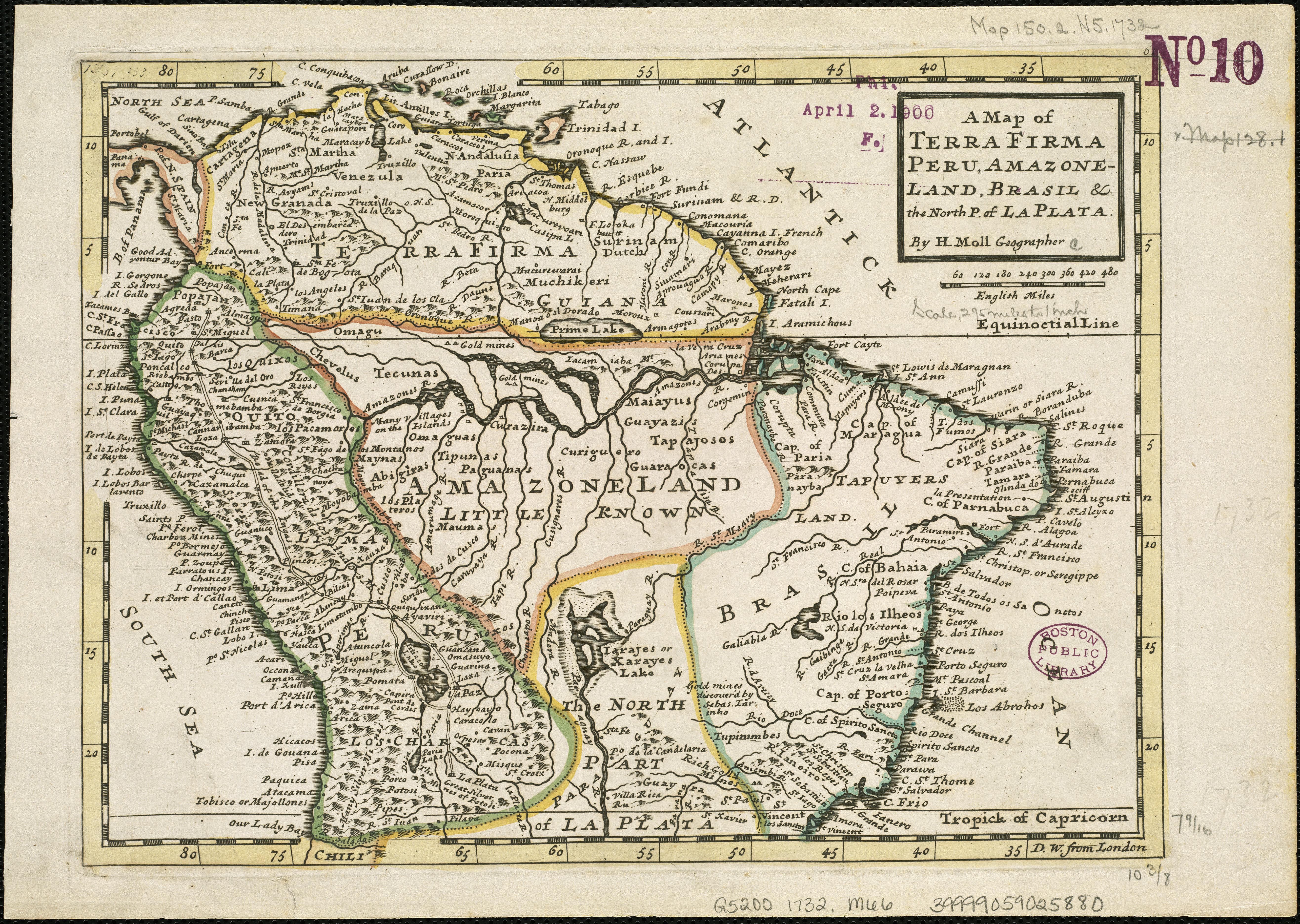 Filea Map Of Terra Firma Peru Amazone Land Brasil The