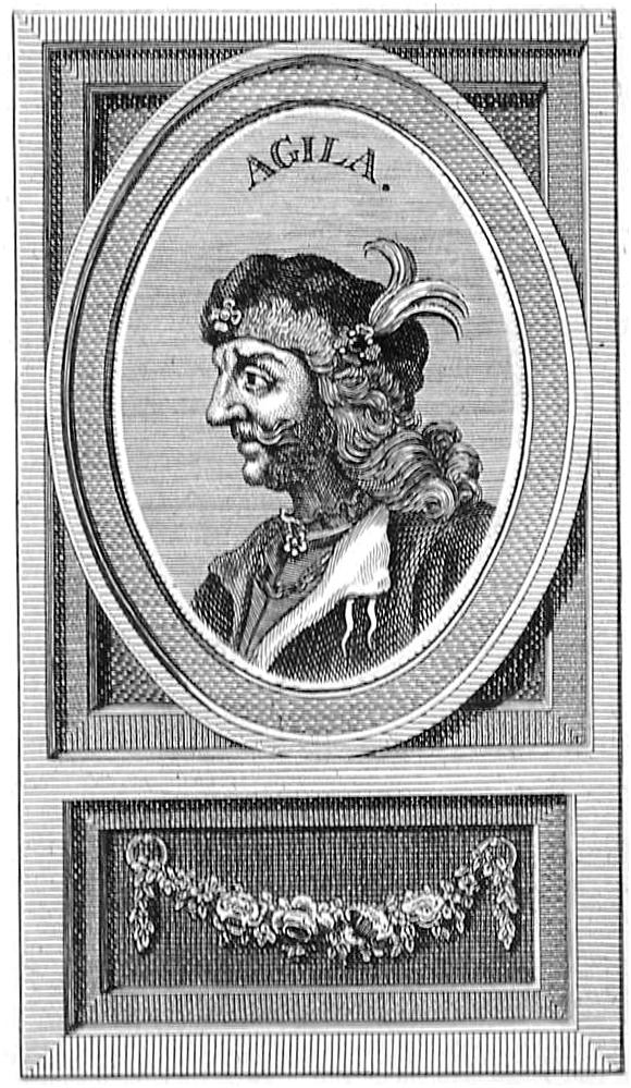 Resultado de imagen de rey Agila I visigodo