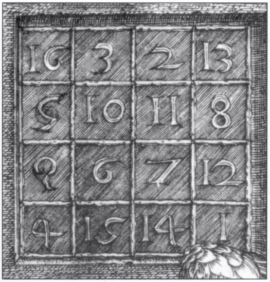 "Albrecht Dürers ""Melencolia I"" (detalj)."