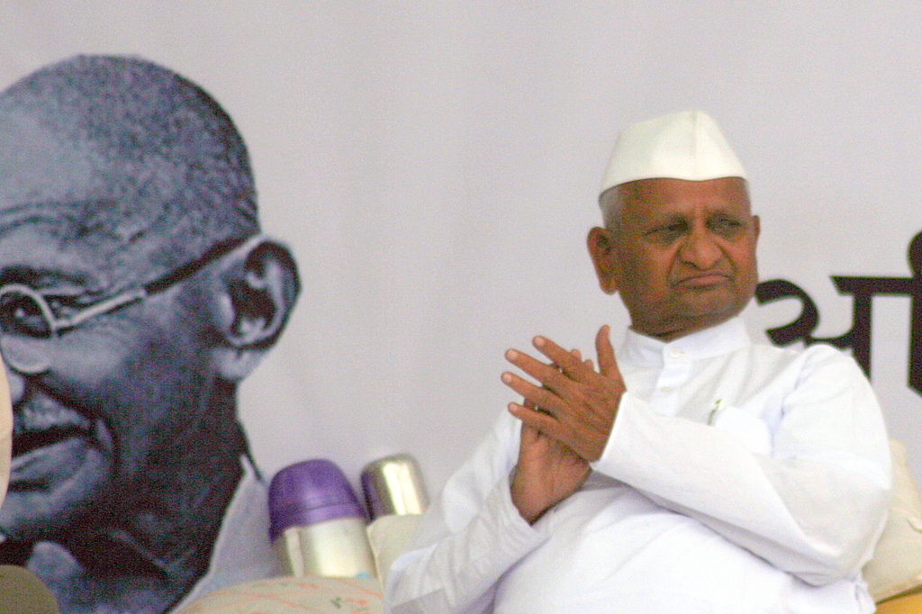 Anna Hazare, the man leading the crusade against corruption in India