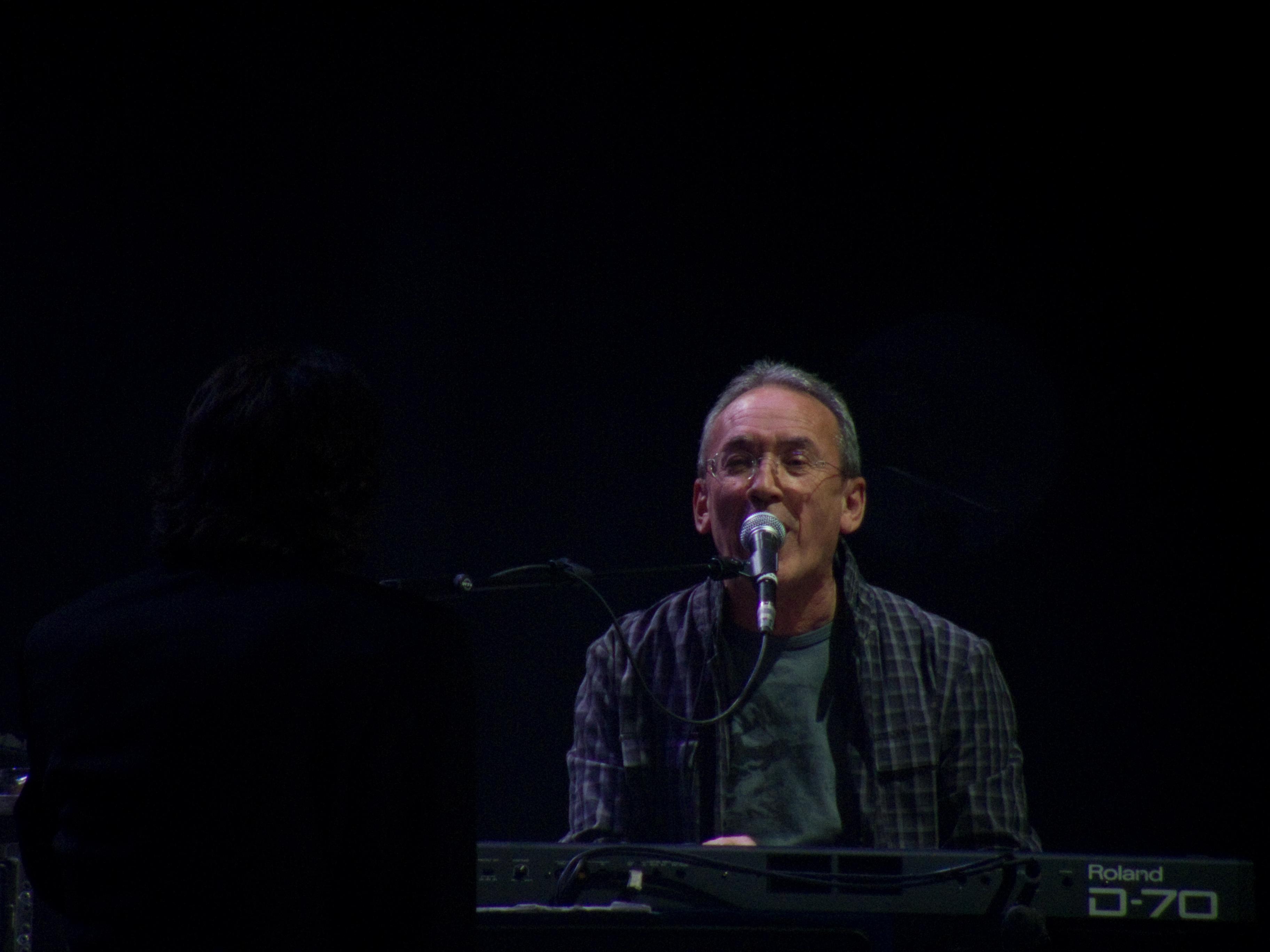 Antonio García de Diego durante un concierto en Madrid de la gira ''Vinagre y rosas'' de Joaquín Sabina.